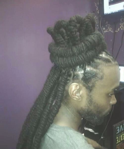 crown dread styles