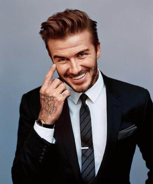 david beckham classic mens hairstyles