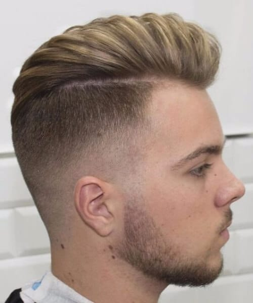 disconnected high fade and long hair blown dry modern haircuts for men