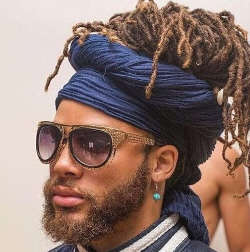 dreads and wrap black men hairstyles