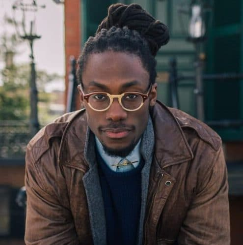 dreads in man bun black men hairstyles