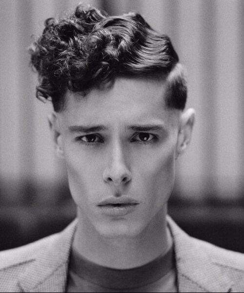 finger waves curly classic mens hairstyles