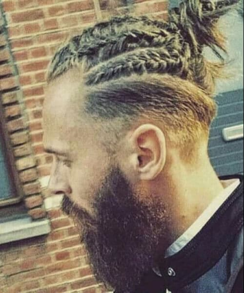 french braids top knot modern haircuts for men