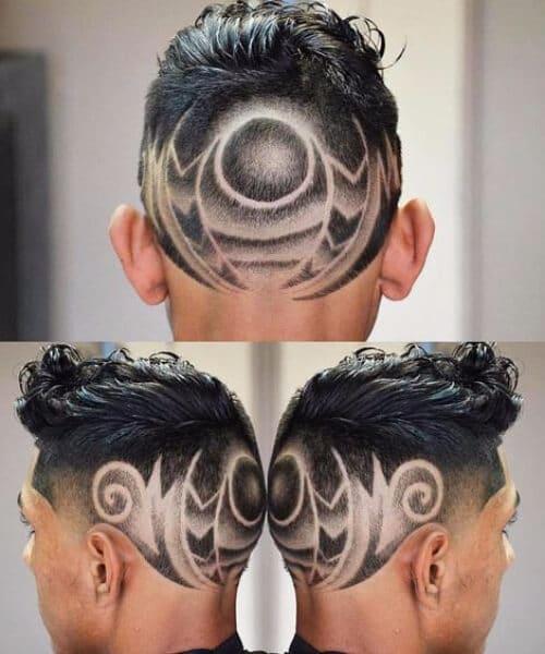 geometric hair designs for men