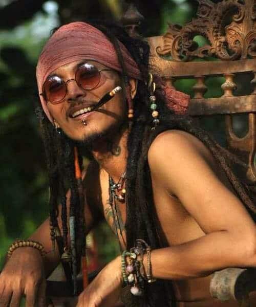 hippie dread styles