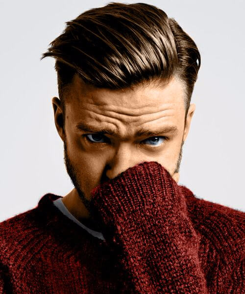 justin timberlake medium hairstyles for men