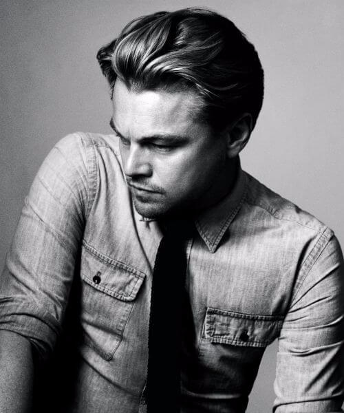 leonardo dicaprio medium hairstyles for men