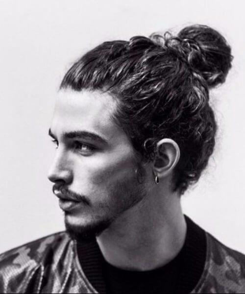 man bun hipster hairstyles