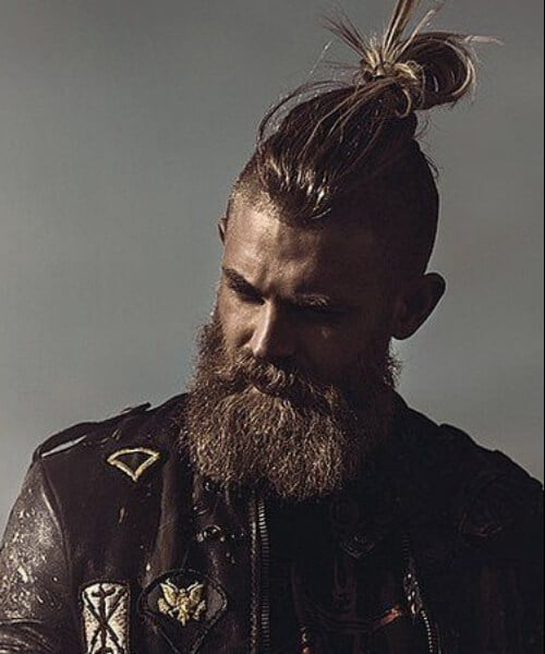 manly man bun with beard hipster hairstyles