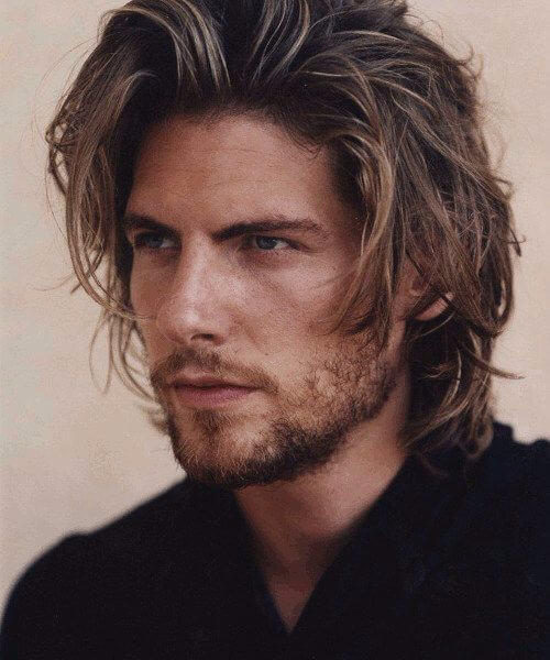 messy cool medium hairstyles for men