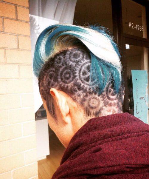 metal gears hair designs for men