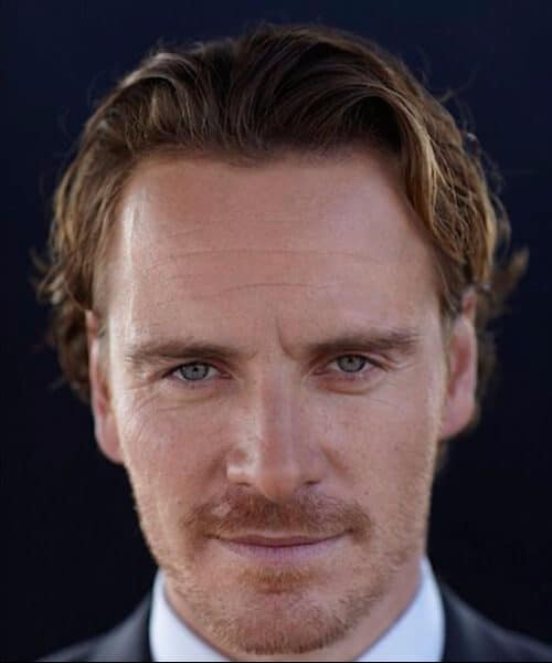 michael fassbender medium hairstyles for men