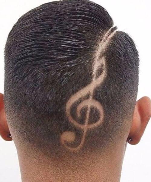 music hair designs for men