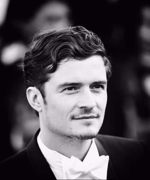 orlando bloom pirate in a bowtie classic mens hairstyles