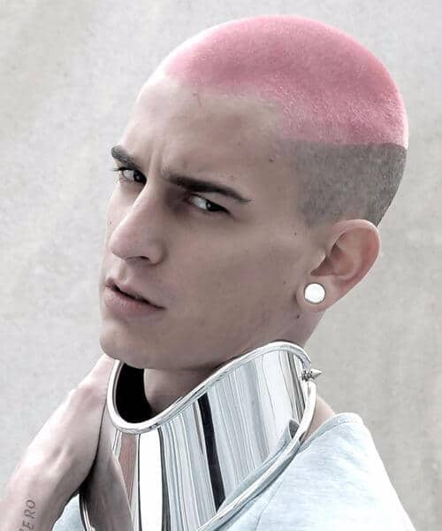 pink and grey buzz cut modern haircuts for men