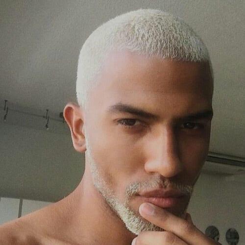 platinum blak men hairstyles