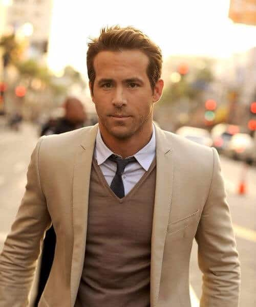 ryan reynolds classic mens hairstyles