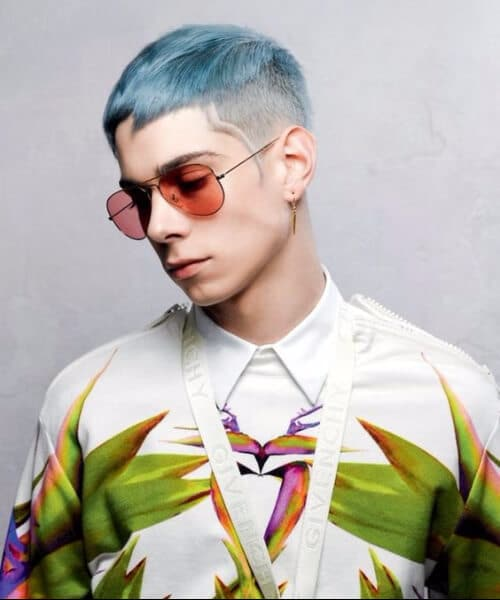 sea blue crop modern haircuts for men