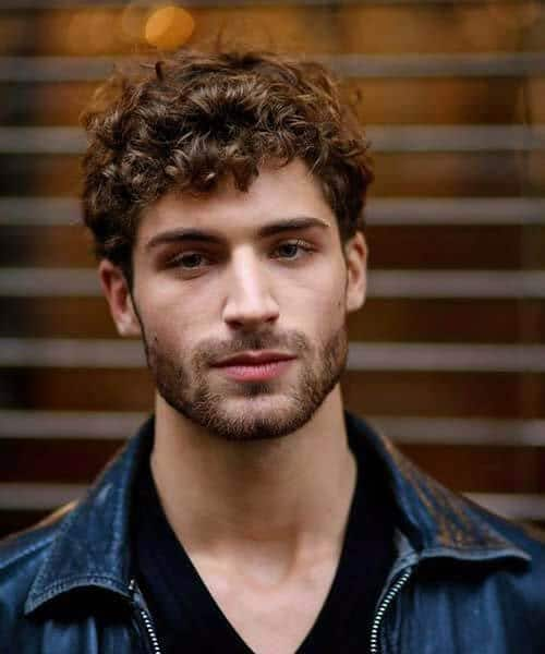 short and curly modern haircuts for men