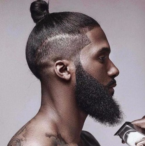 simple top knot black men hairstyles