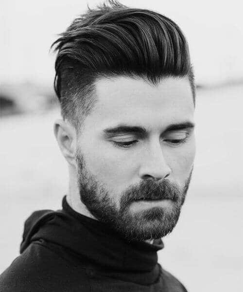 slicked back pompadour modern haircuts for men