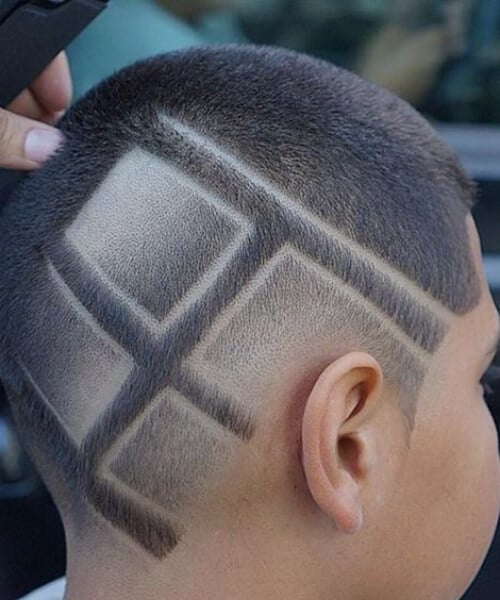 squared lines hair designs for men