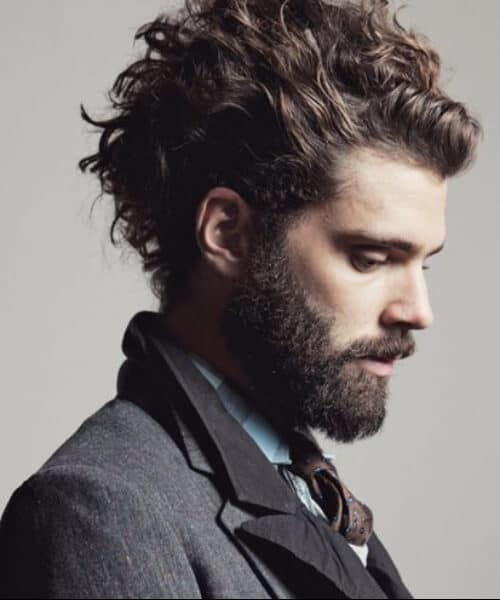 swept up curly modern haircuts for men