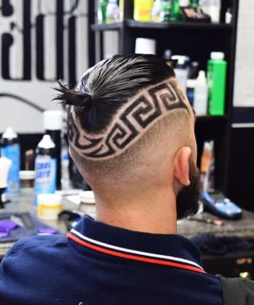 the greek pattern hair designs for men