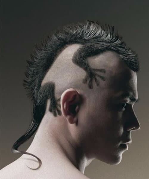 the lizard hair designs for men
