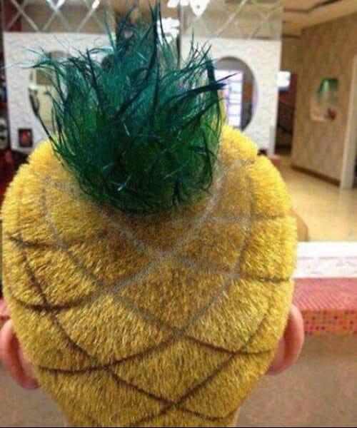 the pineapple hair designs for men