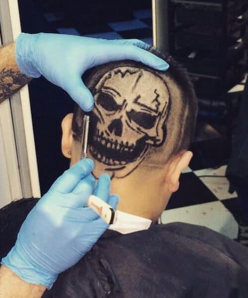 the skull hair designs for men