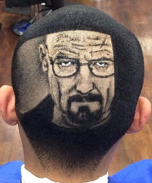 the walter white hair designs for men