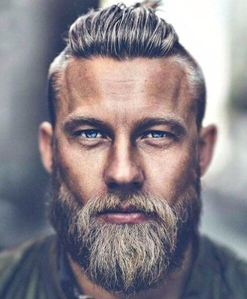 top knot and beard combo modern haircuts for men