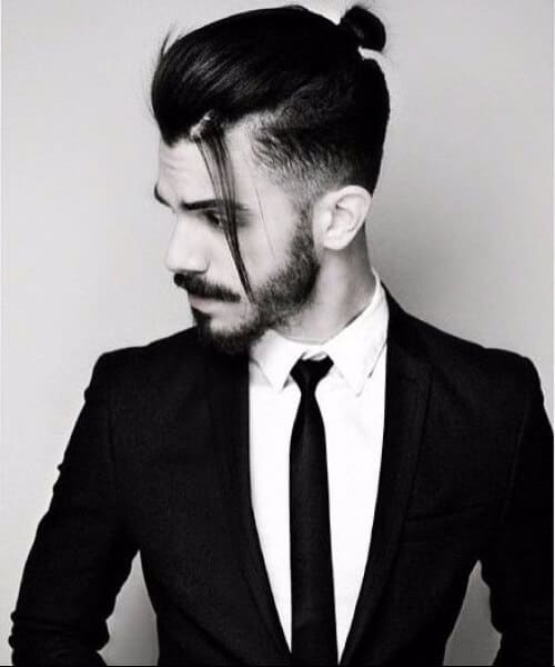 top knot medium hairstyles for men