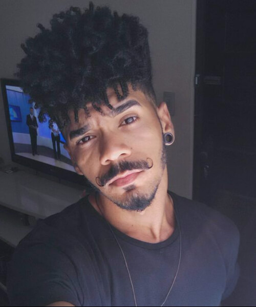 very high top hipster black men hairstyles
