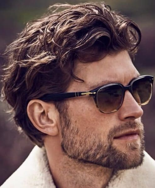 wavy medium hairstyles for men