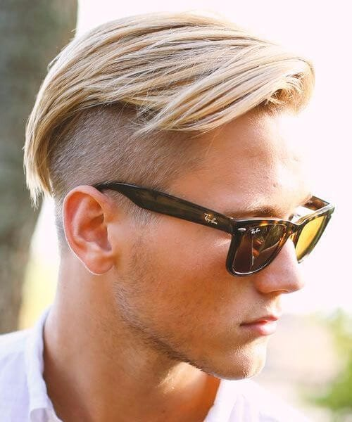 Cool medium length disconnec shaved hairstyles for men