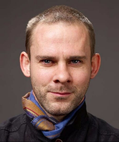Dominic Monaghan hairstyles for men with receding hairlines