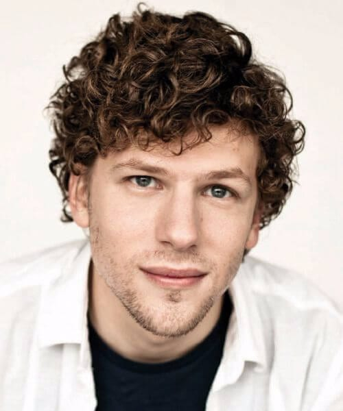Jesse Eisenberg short curly hairstyles for men