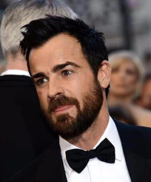 Justin Theroux hairstyles for men with receding hairlines