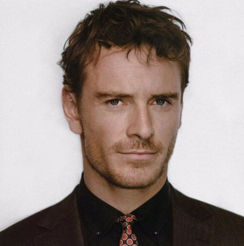 Michael Fassbender mens hairstyles for thin hair