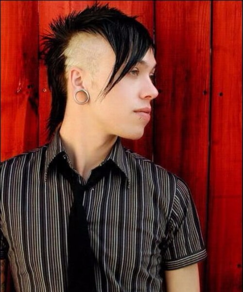 blonde and brunette emo hairstyles for guys