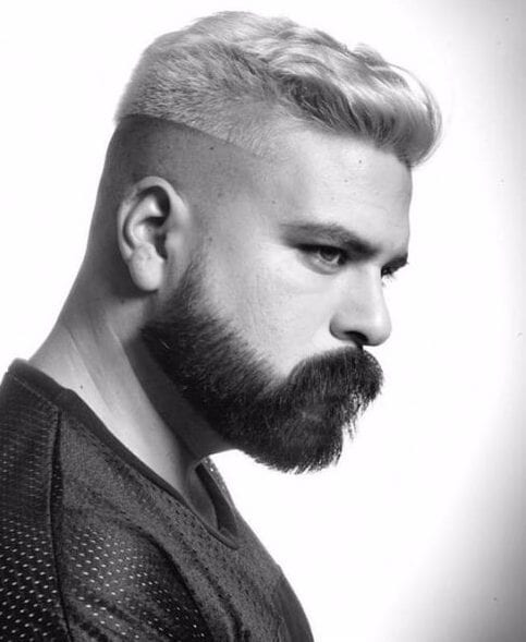 blonde macho shaved hairstyles for men