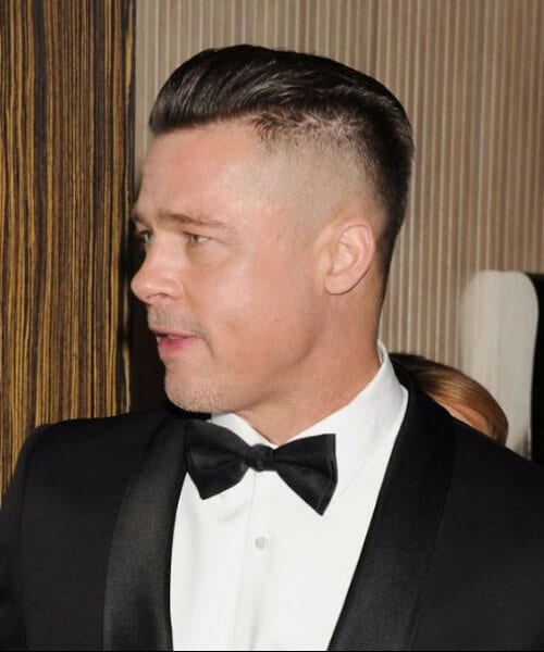 brad pitt shaved hairstyles for men