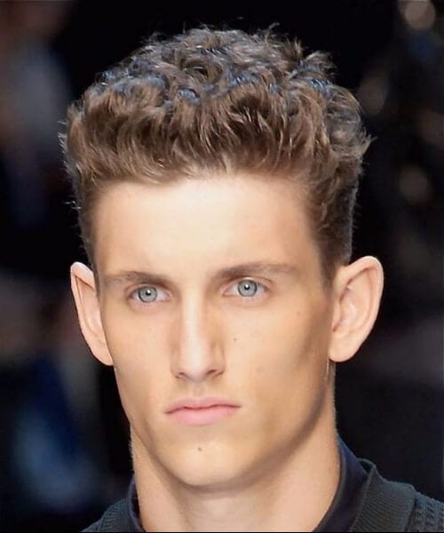 brush up short curly hairstyles for men