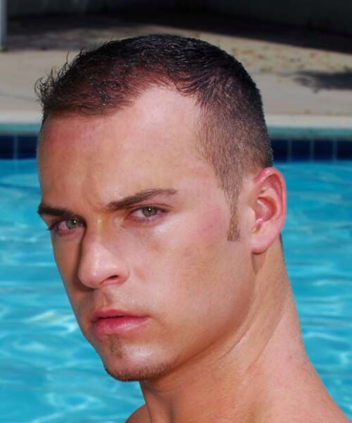 buzz cut hairstyles for men with receding hairline