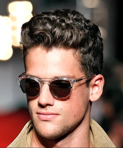 classic cut short curly hairstyles for men
