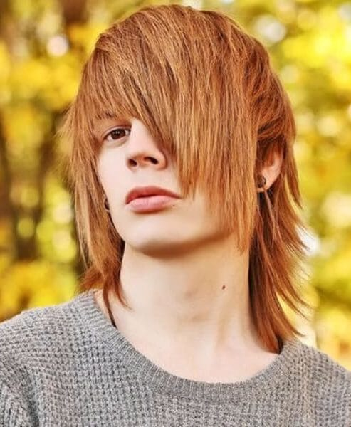 copper emo hairstyles for guys