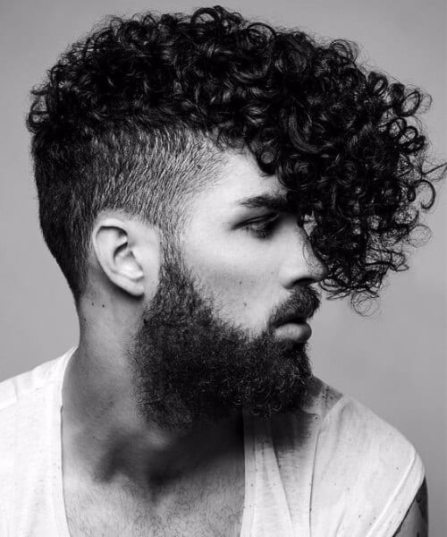 curly shaved hairstyles for men