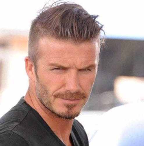 david beckham mens hairstyles for thin hair